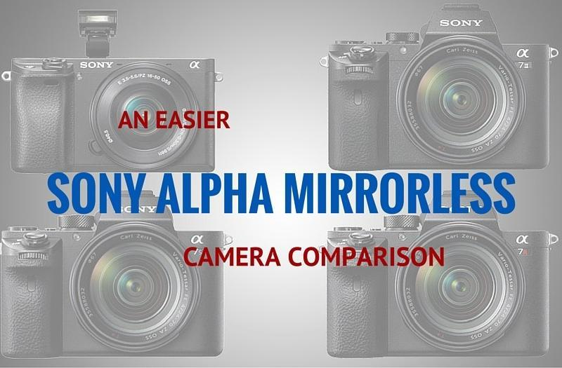 An Easier Sony Alpha Mirrorless Camera Comparison