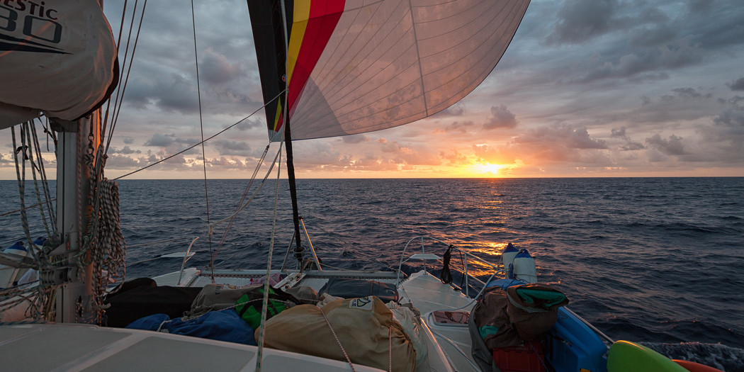 Sunset in the Mona Passage