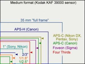 Sensor size comparison. Wikimedia commons.