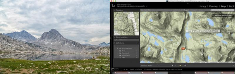 mapping in lightroom