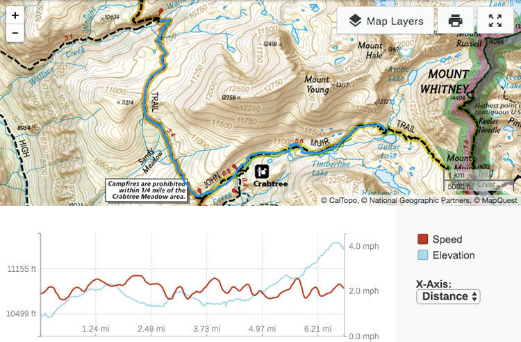 high sierra trail day 6