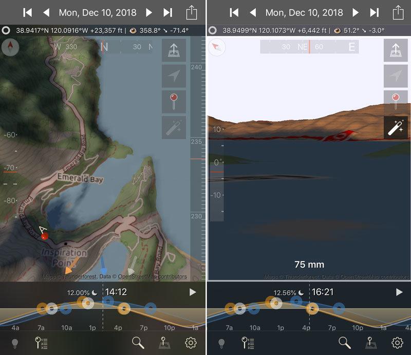 TPE3D landscape photography app