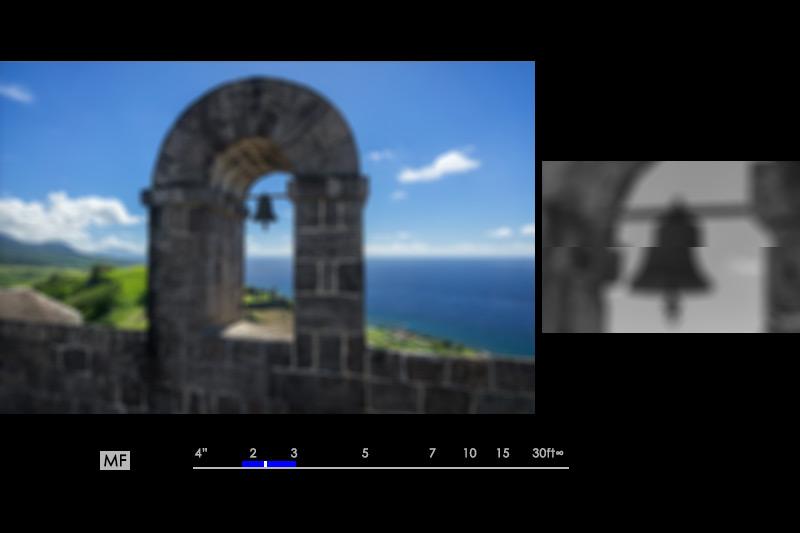 Dual display manual focus