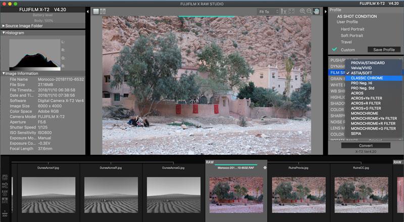 Creating Fujifilm Custom Settings with Fujifilm X RAW Converter