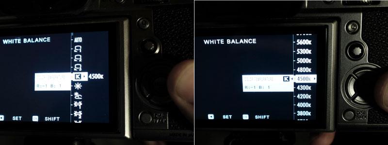 fuji white balance