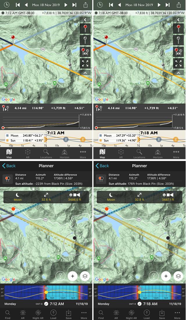 PhotoPills vs TPE geodetics