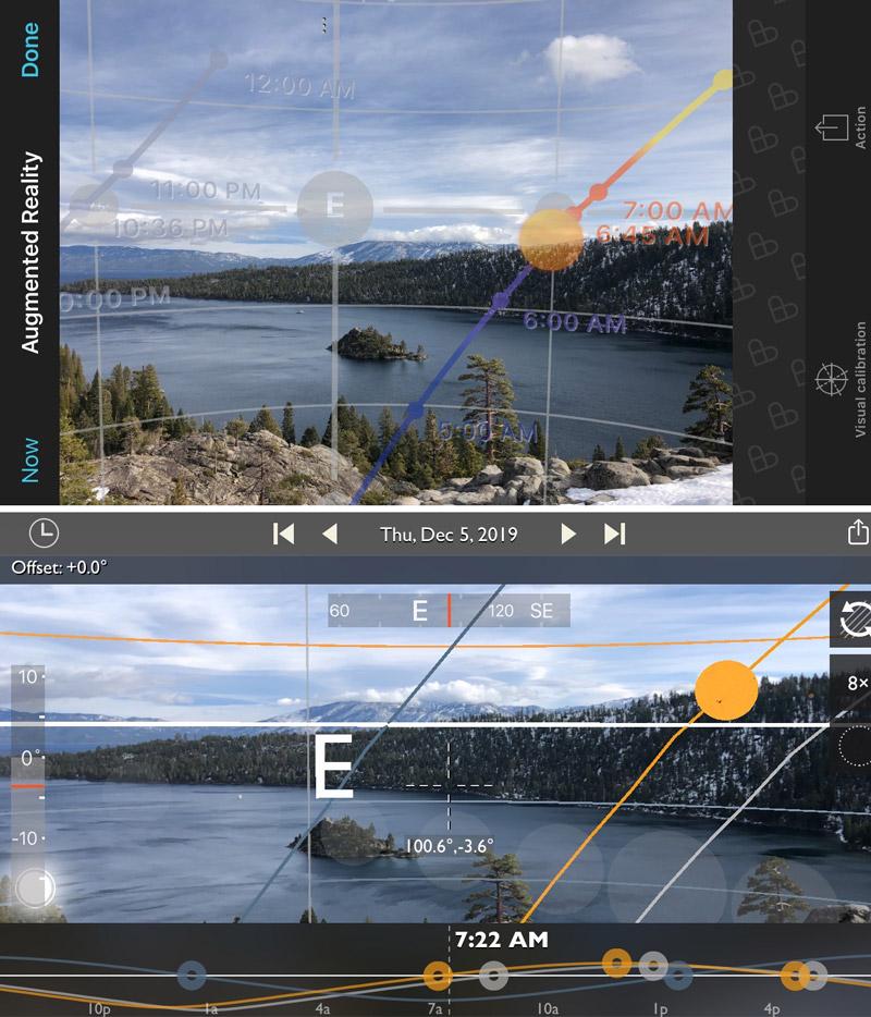 PhotoPills & TPE AR comparison