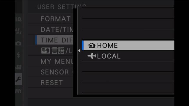 fujifilm date/time travel setting