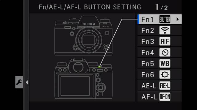 button fujifilm travel settings