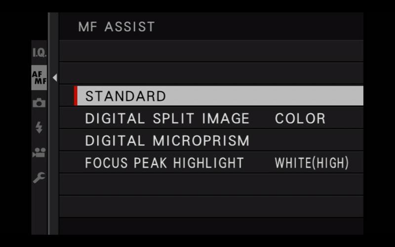 mf assist menu