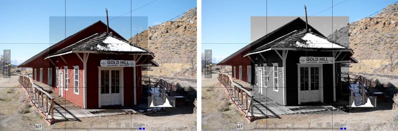 digital split image color monochrome
