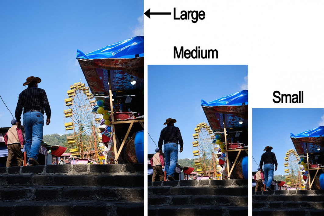 fujifilm image size setting
