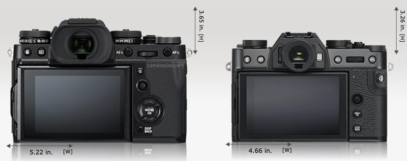 x-t3 vs x-t30 size