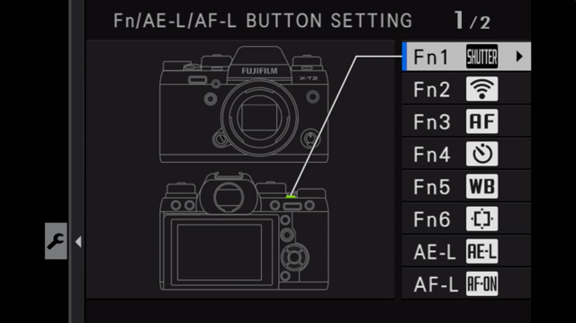 mirrorless camera control customization menu