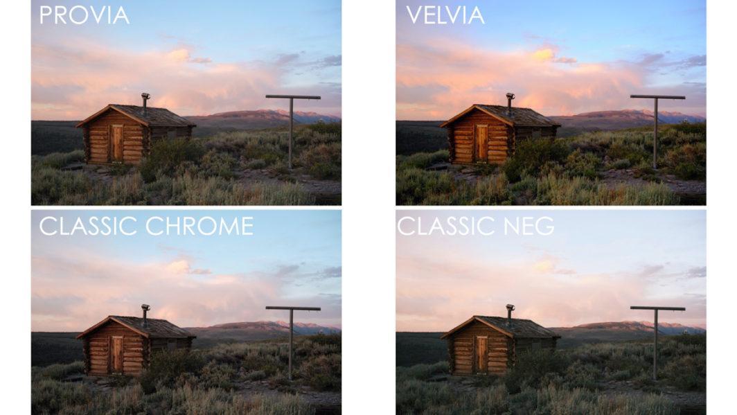 provia vs velvia vs classic chrome vs classic neg