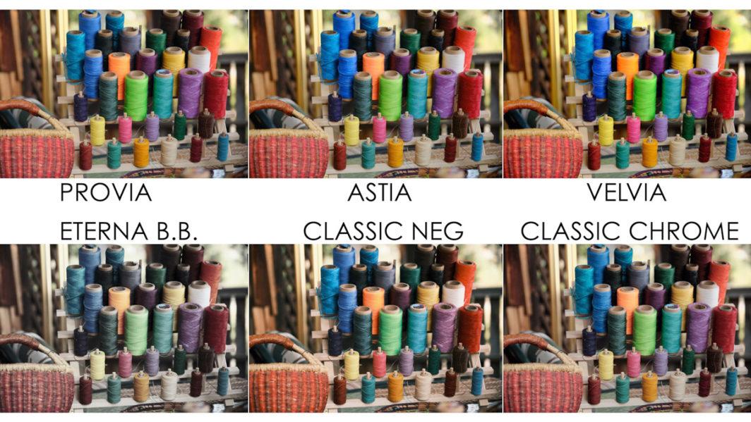 provia vs astia vs velvia vs eterna bleach bypass vs classic neg vs classic chrome