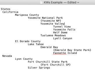 structured keywords