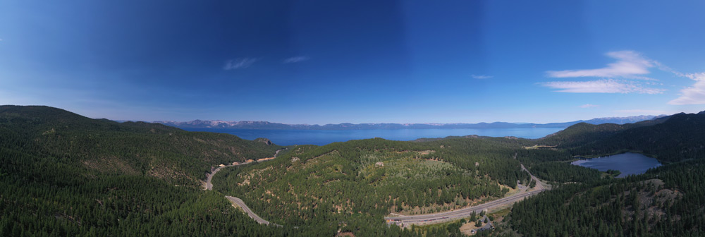aerial panorama with polarizer