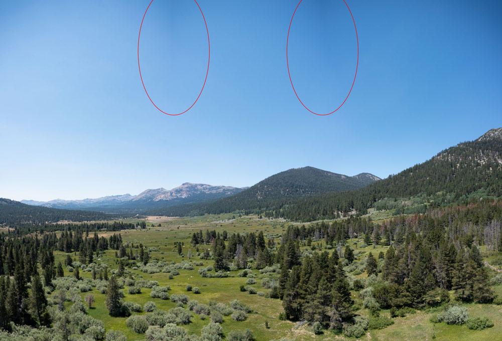 aerial panorama vignetting