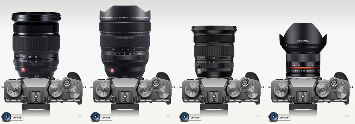 fujifilm landscape lenses