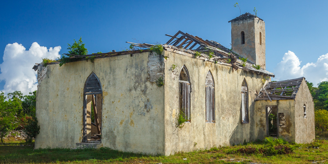 The Bahamas, Long Island: Remains of Old St. Mary's Church