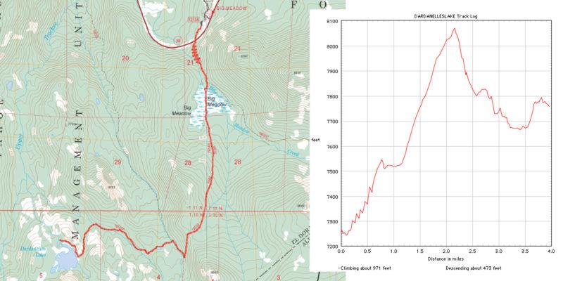 dardanelles lake map