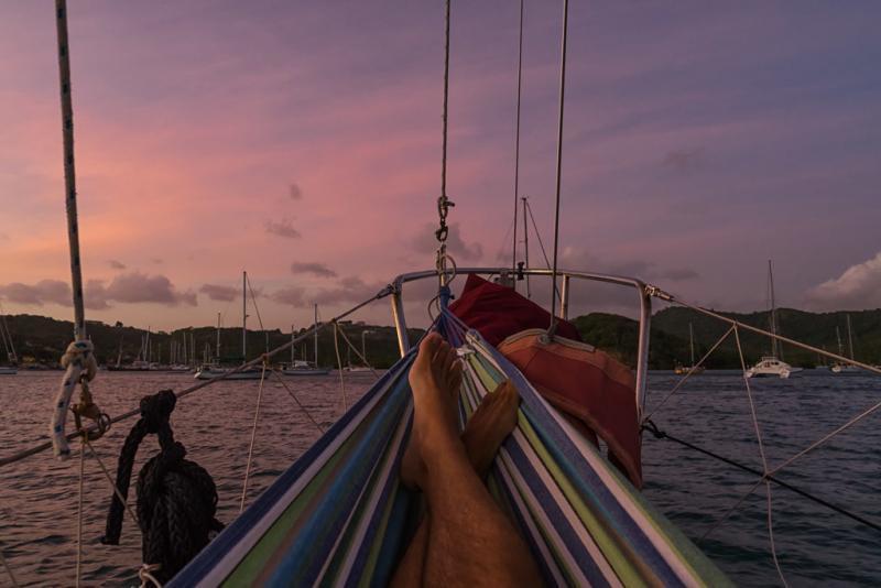 mount hartman bay sunset