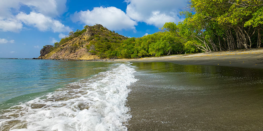 Carriacou: Hiking to Secluded Black Sand & White Sand Beach
