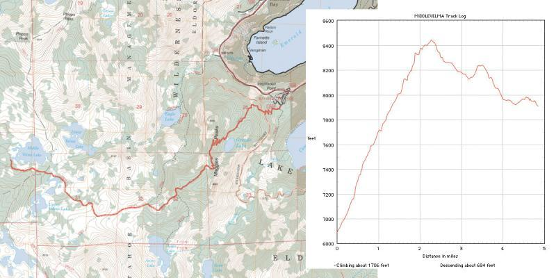 velma lakes hiking map