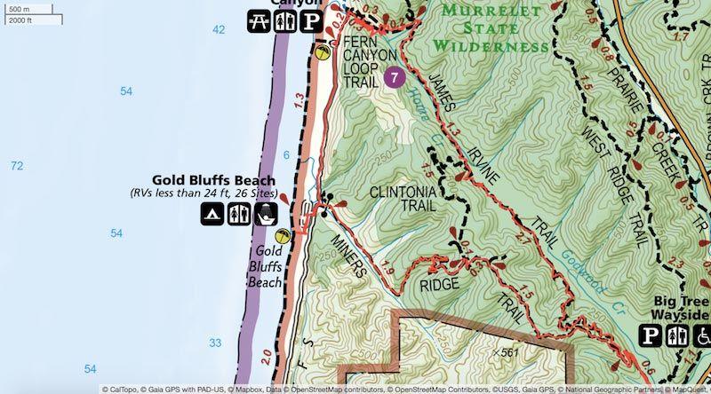 miners ridge map