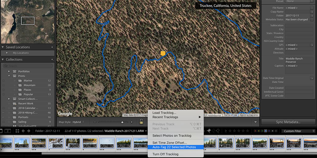 Geotagging Photos in Lightroom with a Handheld GPS